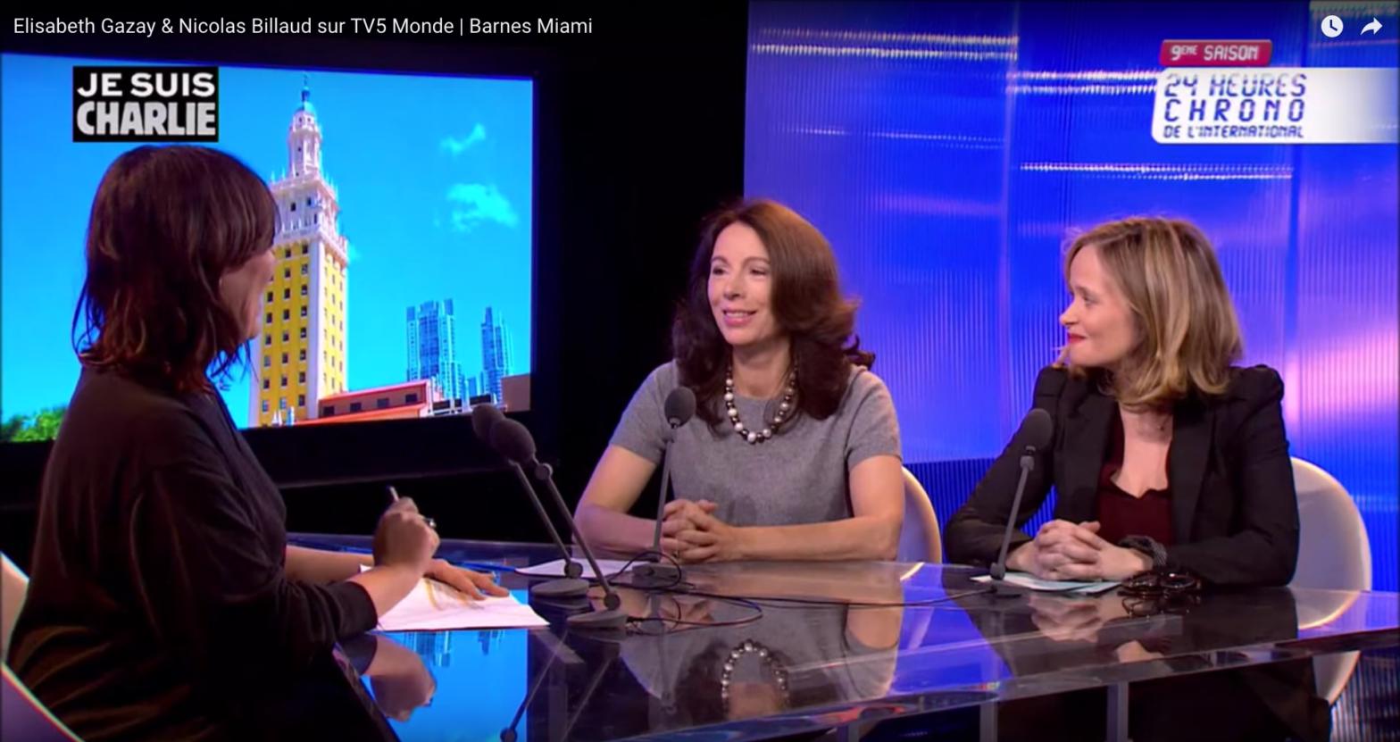 Elisabeth Gazay & Nicolas Billaud sur TV5 Monde